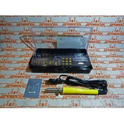 Прибор для выжигания STAYER PROTerm, PROFESSIONAL,22 насадки, пластиковый бокс / 45227