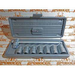 Набор головок НИЗ № 1 (10-11-12-13-14-17-19 мм + вороток 1/2) / 2761-10