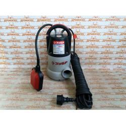 Насос погружной, ЗУБР ЗНПЧ-400, дренажный, для чистой воды, пропускная способность 200 л/мин, 400 Вт, напор 8 м, провод 10 м