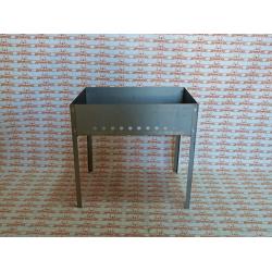Мангал сборный стальной GRINDA Maxi, 500*300*500 мм (металл толщиной 0,8 мм) / 427782