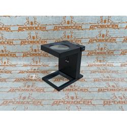 """Лупа ЗУБР складная на подставке, """"Мастер"""", светодиодная подсветка, 5-кратное увеличение, линза Ø50 мм / 40542-50"""