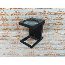 """Лупа ЗУБР складная на подставке, """"Мастер"""", светодиодная подсветка, 3-кратное увеличение, линза Ø90 мм / 40542-90"""