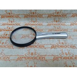 """Лупа ЗУБР, """"Мастер"""", светодиодная подсветка, 3/4-кратное увеличение, линза Ø90 мм / 40541-90"""
