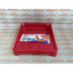 "Ванночка ЗУБР малярная пластмассовая для валиков до 210 мм, ""Эксперт"", 280х300 мм, 600 мл / 06055-21"