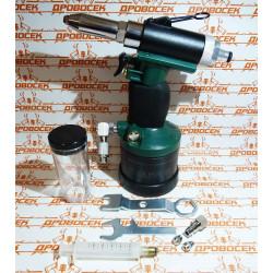 """Заклепочник пневматический KRAFTOOL, PRO, 6.0-6.7 бар, коннектор 1/4"""", 2.4-3.2-4.0-4.8 мм / 31188"""