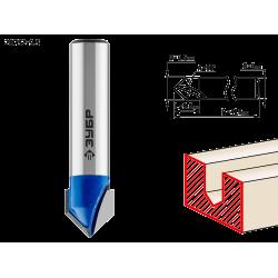 Фреза пазовая галтельная V-образная, D= 9,5мм, рабочая длина-9,5мм, угол-90° градусов, хв.-8 мм, ЗУБР Профессионал / 28752-9.5