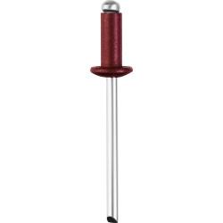 Алюминиевые заклепки Color-FIX, 3.2 х 8 мм, RAL 3005 темно-красный, 50 шт., STAYER Professional / 3125-32-3005