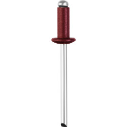 Алюминиевые заклепки Color-FIX, 4.0 х 10 мм, RAL 3005 темно-красный, 50 шт., STAYER Professional / 3125-40-3005