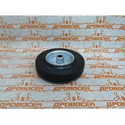 Колесо для бетономешалки, компрессора, генератора d=125 мм, г/п 100 кг, резина/металл, игольчатый подшипник, ЗУБР Профессионал / 30936-125