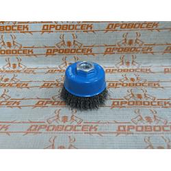 Щетка-крацовка, витая стальная проволока 0,3 мм, 60 мм ЗУБР / 35261-060