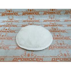 """Полировальная насадка ЗУБР из натурального меха на липучке, """"Эксперт"""", 125 мм / 3596-125"""