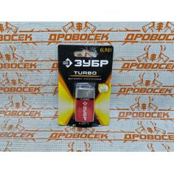 """Батарейка ЗУБР """"СУПЕР"""" щелочная (алкалиновая), тип 6LR61 (крона), 9 В, 1 шт. на карточке / 59219"""