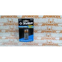 """Батарейка ЗУБР """"Lithium PRO"""", литиевая Li-FeS2, """"AAA"""", 1,5В, 2шт / 59201-2C"""