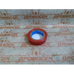 Изолента самозатухающая ПВХ ЗУБР красная  (ширина 15 мм + длина 10 м + 6000 В) / 1233-3