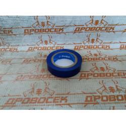 Изолента самозатухающая ПВХ ЗУБР синяя (ширина 15 мм + длина 10 м + 6000 В) / 1233-73
