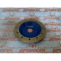 Плоская обдирочно-шлифовальная чашка ЗУБР №1, мелкое зерно ВК8, 125 мм / 33430-1