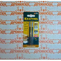 """Пилки для электролобзика KRAFTOOL """"обратный чистый рез"""" длина 75 мм, 2 шт (Германия) / 159516-2,5"""