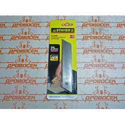Лезвия STAYER PROFI 09179-S5, сегментированные, 25мм, 5 шт / 09179-S5
