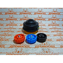 Катушка триммерная Denzel полуавтомат, шестигранник HEX х 15/6, болт М6 правый, М8 правый, М8 левый / 96365
