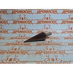 Сверло ступенчатое 4-6-8-10-12-14-16-18-20-22-24-26-28-30 мм (быстрорежущая сталь с кобальтом Р6М5) / 29672-4-30-14