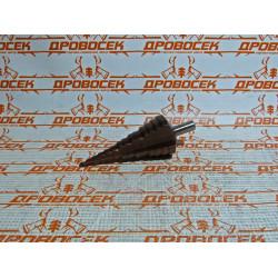 Сверло ступенчатое 4-6-8-10-12-14-16-18-20-24-25-30-33-36-39 мм (быстрорежущая сталь с кобальтом Р6М5) / 29672-4-39-14