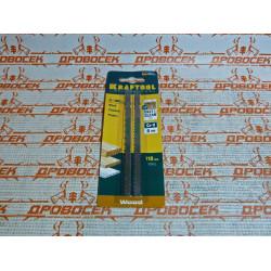 """Пилки для электролобзика Kraftool """"чистый рез""""  длина полотна 110 мм, 2шт (Германия) / 159512-4"""