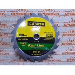 Диск пильный по дереву STAYER Fast Line, MASTER, 180х20 мм, 20Т / 3680-180-20-20