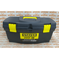 "Ящик для инструмента STAYER TOPLine, STANDARD, пластик, 480х250х240 мм (19"") / 38110-18"
