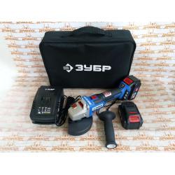 Бесщеточная УШМ ЗУБР AB-125-42 20В , 2 АКБ (4Ач), в сумке, Профессионал