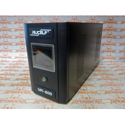 Источник бесперебойного питания RUCELF UPI-600-12 EL (600 Вт + Максимальная емкость подключаемой АКБ, 100 Ач.)