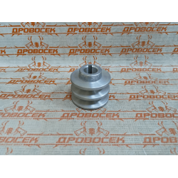 Шкив двигателя 2-х ручейковый, d=19 мм.