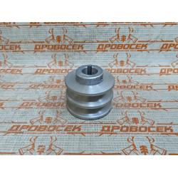 Шкив двигателя 2-х ручейковый, d=18 мм.